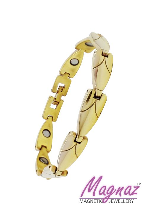 Magnaz Tungsten Yellow Gold Bracelet