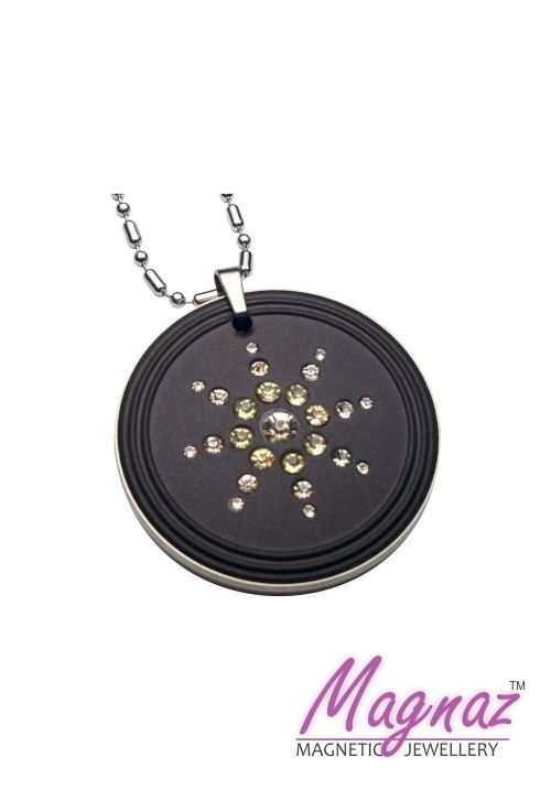 Magnaz Scalar Energy Pendant with CZ Stone