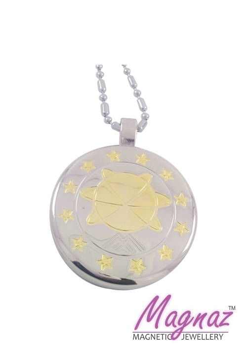 Magnaz Magnetic Yellow Gold, Silver Stainless Steel Pendant